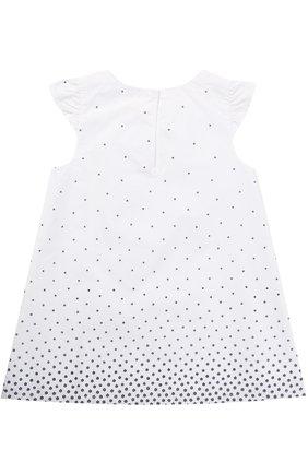 Хлопковое платье свободного кроя с принтом  | Фото №2