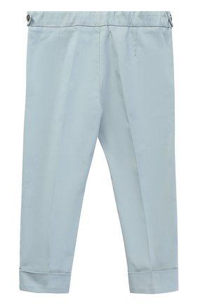 Хлопковые брюки чинос с нашивками и эластичной вставкой на поясе | Фото №2