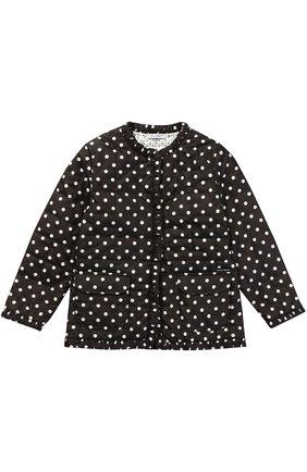 Куртка в горох с накладными карманами Dolce & Gabbana черно-белого цвета   Фото №1