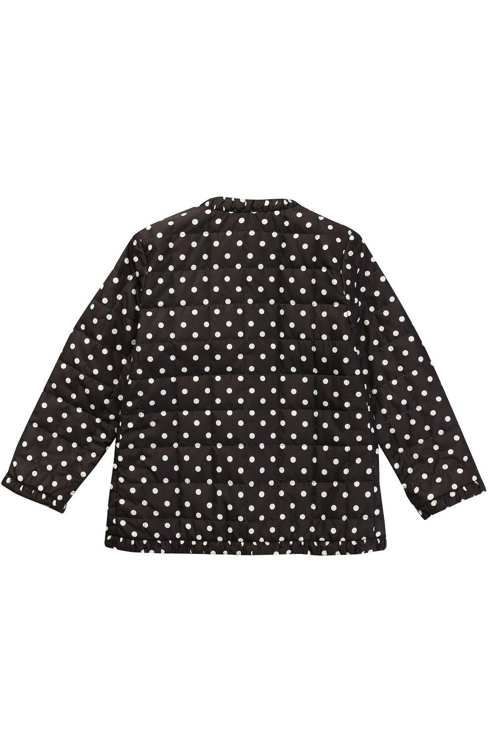 Куртка в горох с накладными карманами Dolce & Gabbana черно-белого цвета   Фото №2