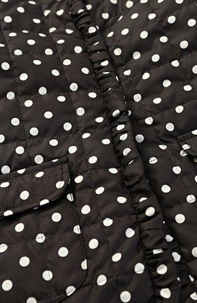 Куртка в горох с накладными карманами Dolce & Gabbana черно-белого цвета   Фото №3