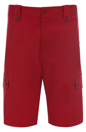 Хлопковые шорты с накладными карманами Dolce & Gabbana красные | Фото №1