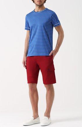 Хлопковые шорты с накладными карманами Dolce & Gabbana красные | Фото №2