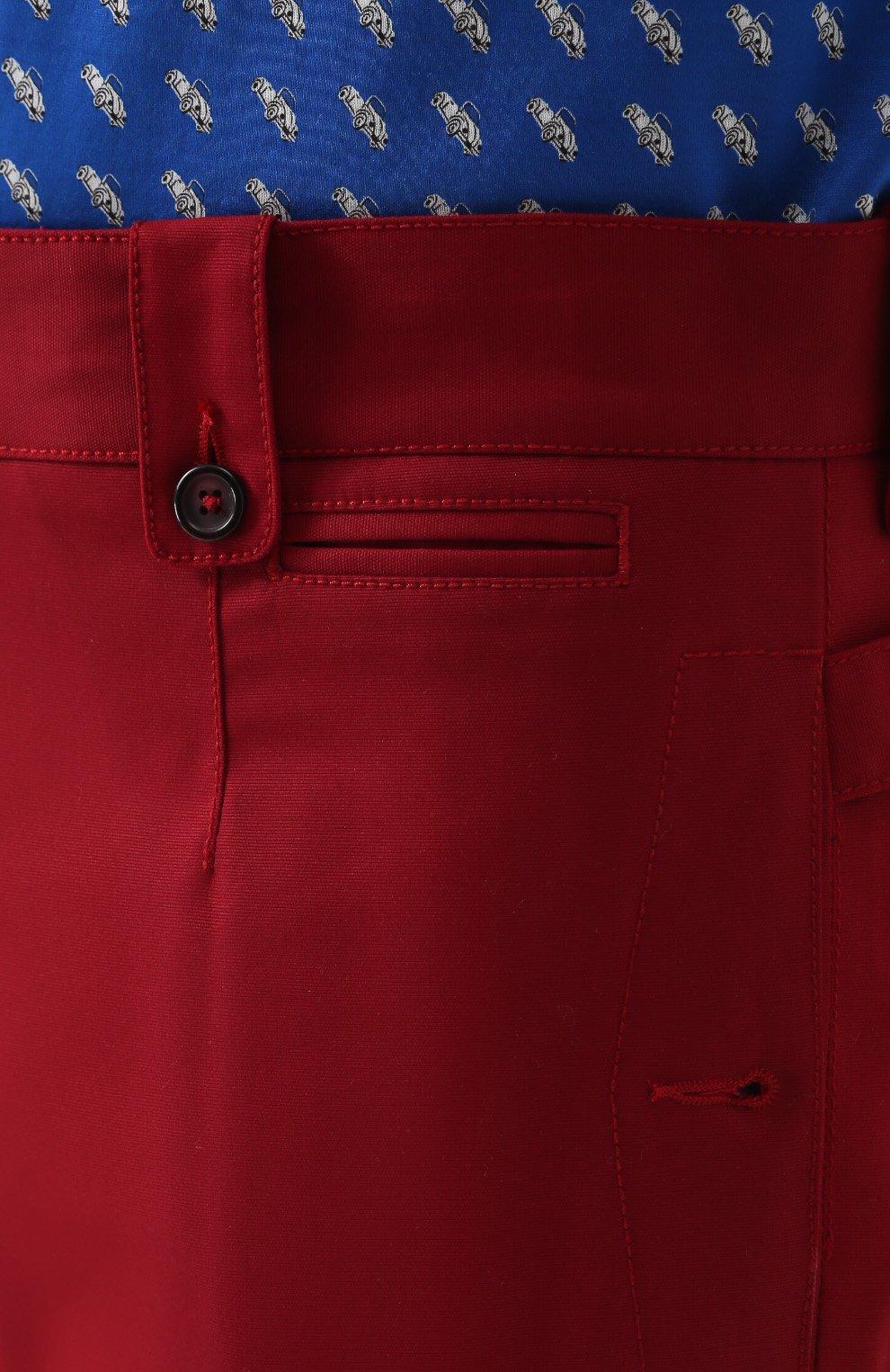 Хлопковые шорты с накладными карманами Dolce & Gabbana красные | Фото №5