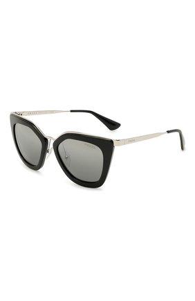 Женские солнцезащитные очки PRADA черного цвета, арт. 53SS-1AB6N2 | Фото 1