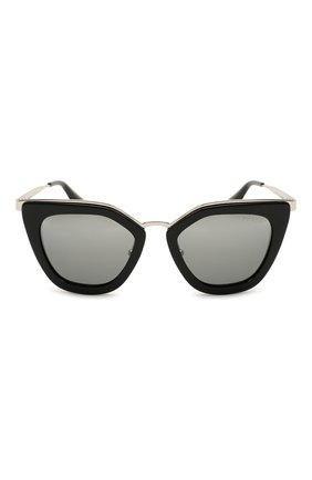 Женские солнцезащитные очки PRADA черного цвета, арт. 53SS-1AB6N2 | Фото 3