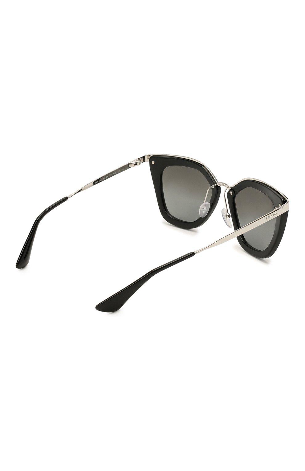 Женские солнцезащитные очки PRADA черного цвета, арт. 53SS-1AB6N2 | Фото 4