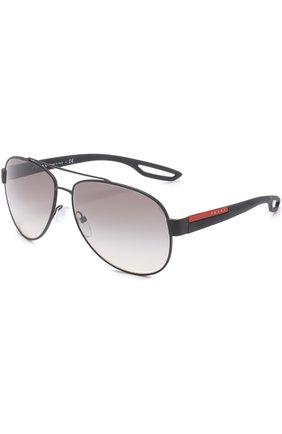 Мужские солнцезащитные очки prada linea rossa PRADA черного цвета, арт. 55QS-DG00A7 | Фото 1