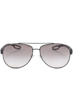 Мужские солнцезащитные очки prada linea rossa PRADA черного цвета, арт. 55QS-DG00A7 | Фото 2