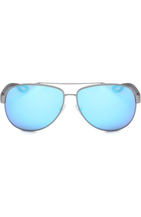 Женские солнцезащитные очки prada linea rossa PRADA серебряного цвета, арт. 55QS-DG15M2   Фото 2
