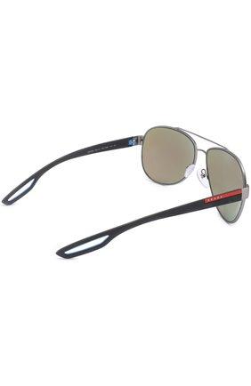 Женские солнцезащитные очки prada linea rossa PRADA серебряного цвета, арт. 55QS-DG15M2   Фото 4