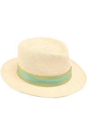 Соломенная шляпа с лентой Anthony Peto бежевого цвета   Фото №1
