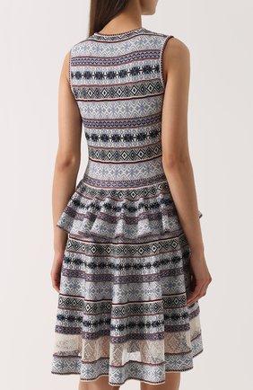 Платье-миди с принтом и баской | Фото №4