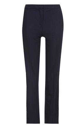 Укороченные брюки прямого кроя со стрелками | Фото №1