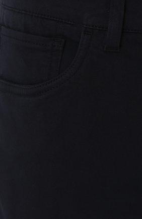 Джинсы прямого кроя из эластичного хлопка Dolce & Gabbana темно-синие | Фото №5