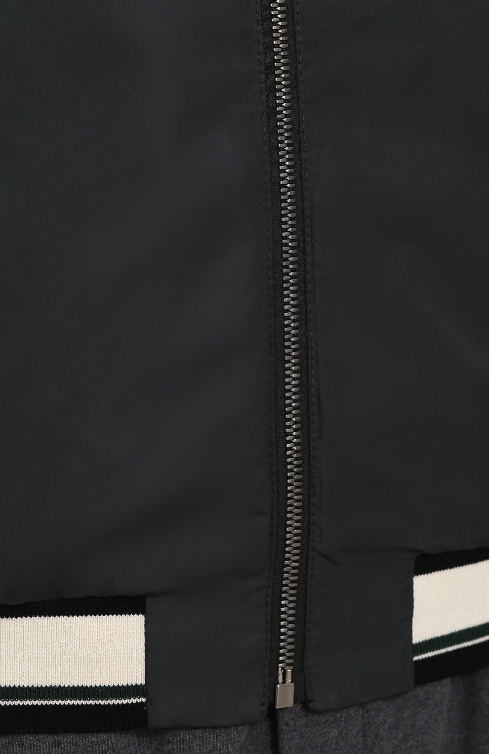 Бомбер на молнии с контрастной отделкой Dolce & Gabbana зеленая   Фото №5