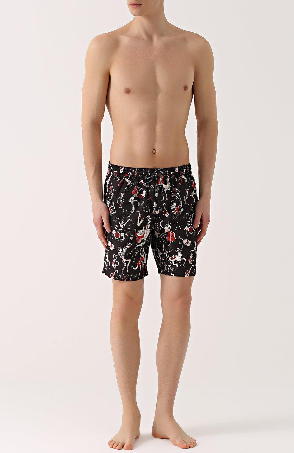 Плавки-шорты с принтом Dolce & Gabbana красные | Фото №2