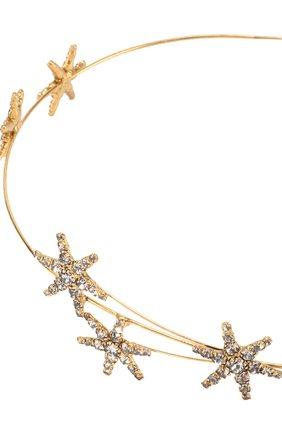 Повязка для волос Venus Circlet с кристаллами Jennifer Behr золотого цвета   Фото №1