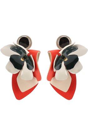 Кожаные серьги-клипсы | Фото №1