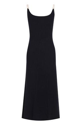 Платье-миди с декорированными бретельками Mother Of Pearl темно-синее | Фото №1