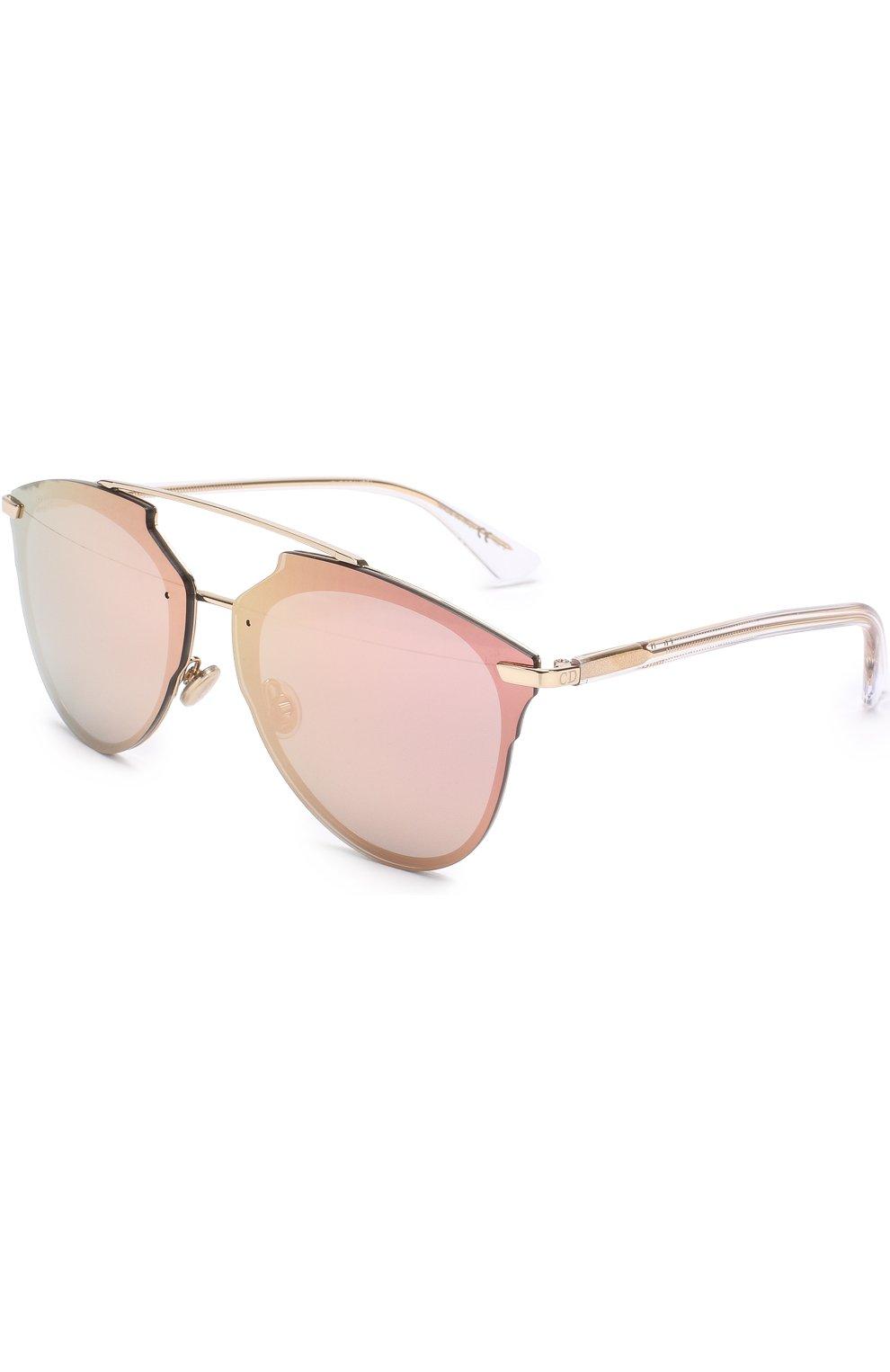 Женские солнцезащитные очки DIOR золотого цвета, арт. DI0RREFLECTEDP S5Z | Фото 1
