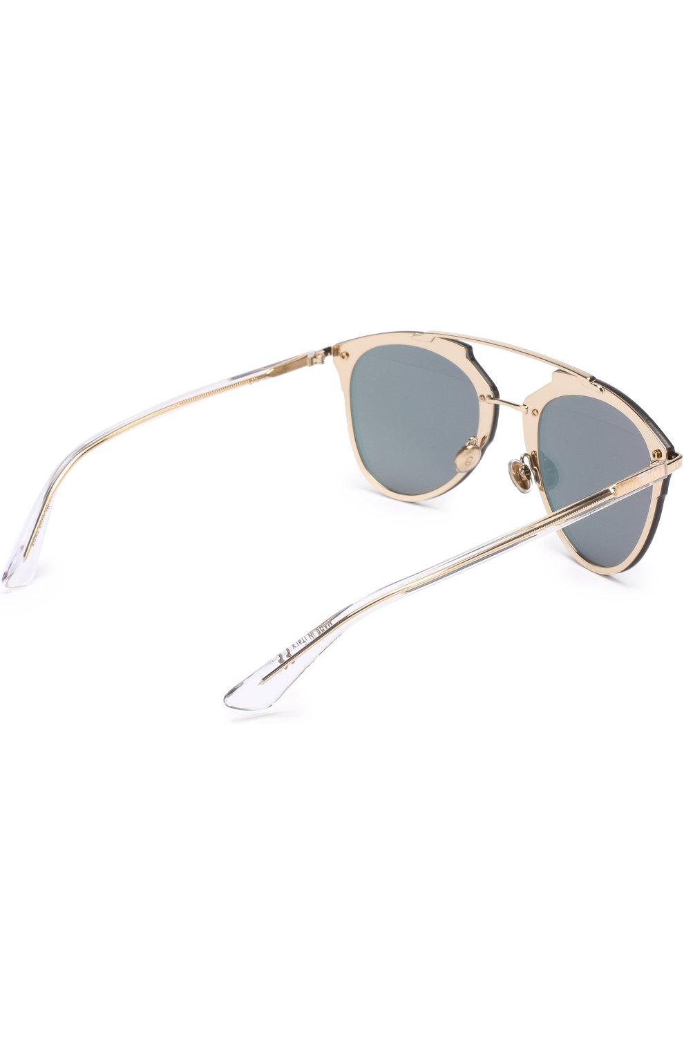 Женские солнцезащитные очки DIOR золотого цвета, арт. DI0RREFLECTEDP S5Z | Фото 4