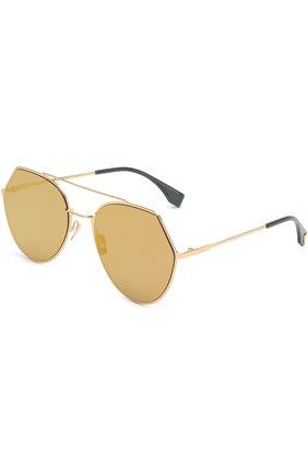 Солнцезащитные очки Fendi золотые | Фото №1