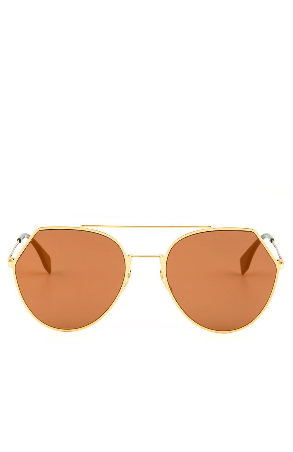 Солнцезащитные очки Fendi золотые | Фото №2