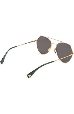 Солнцезащитные очки Fendi золотые | Фото №5