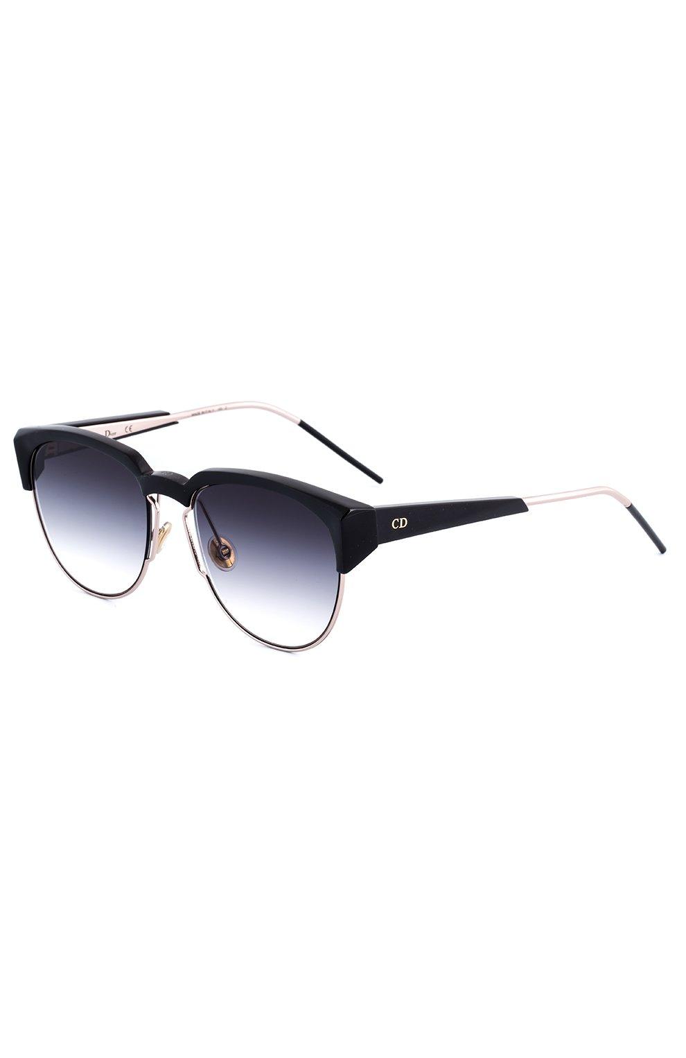 Женские солнцезащитные очки DIOR черного цвета, арт. DI0RSPECTRAL 01M | Фото 1