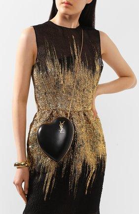 Женский сумка love box SAINT LAURENT черного цвета, арт. 466212/BWT0J | Фото 2