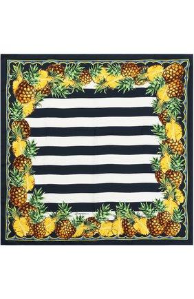 Шелковый платок с принтом   Фото №2