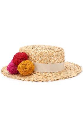 Шляпа Brigitte с помпонами | Фото №1