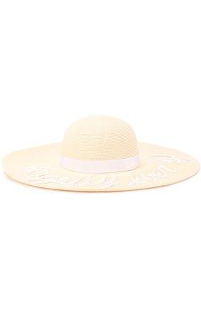 Шляпа Bunny с надписью из пайеток Eugenia Kim белого цвета | Фото №1