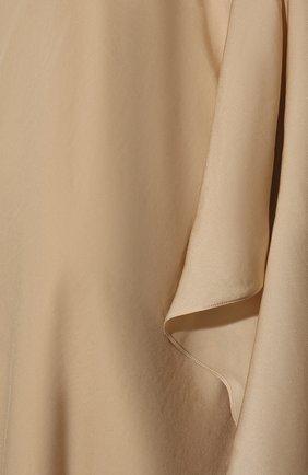 Удлиненный топ асимметричного кроя с открытым плечом | Фото №5