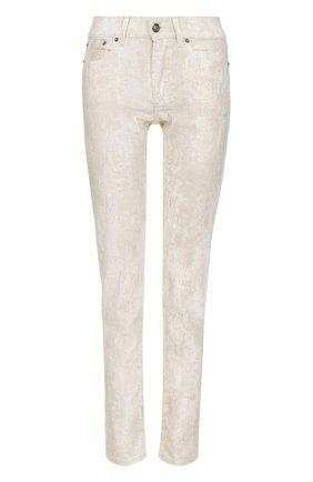 Женские джинсы-скинни с потертостями RALPH LAUREN белого цвета, арт. 930/XZDHN/XYDHN | Фото 1