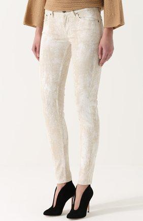 Женские джинсы-скинни с потертостями RALPH LAUREN белого цвета, арт. 930/XZDHN/XYDHN | Фото 3