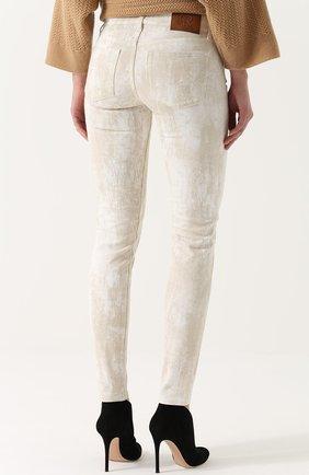 Женские джинсы-скинни с потертостями RALPH LAUREN белого цвета, арт. 930/XZDHN/XYDHN | Фото 4