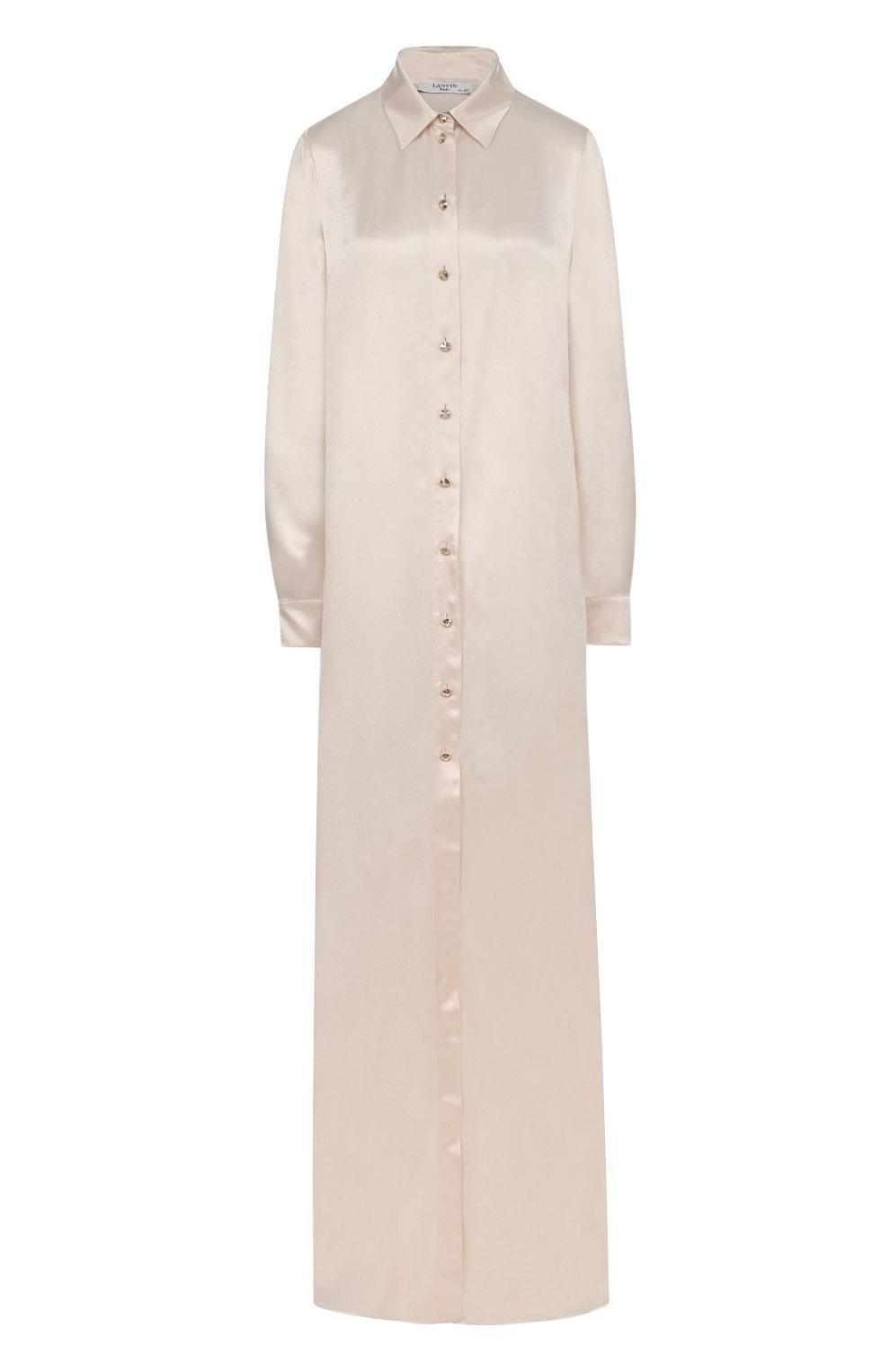 Платье-рубашка в пол с длинным рукавом | Фото №1