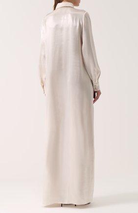 Платье-рубашка в пол с длинным рукавом | Фото №4