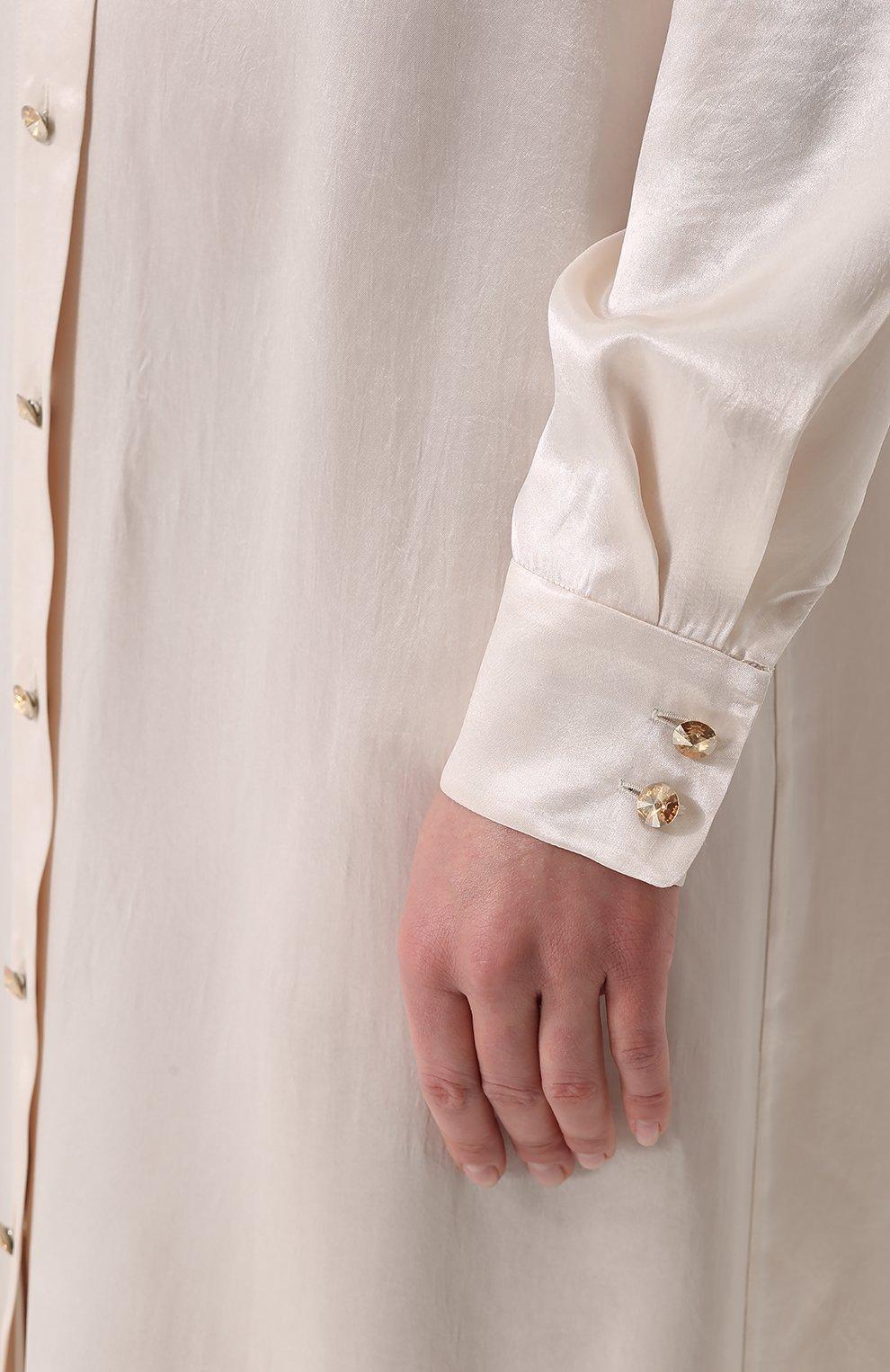Платье-рубашка в пол с длинным рукавом | Фото №5