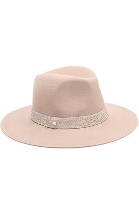 Фетровая шляпа с декорированной повязкой | Фото №1