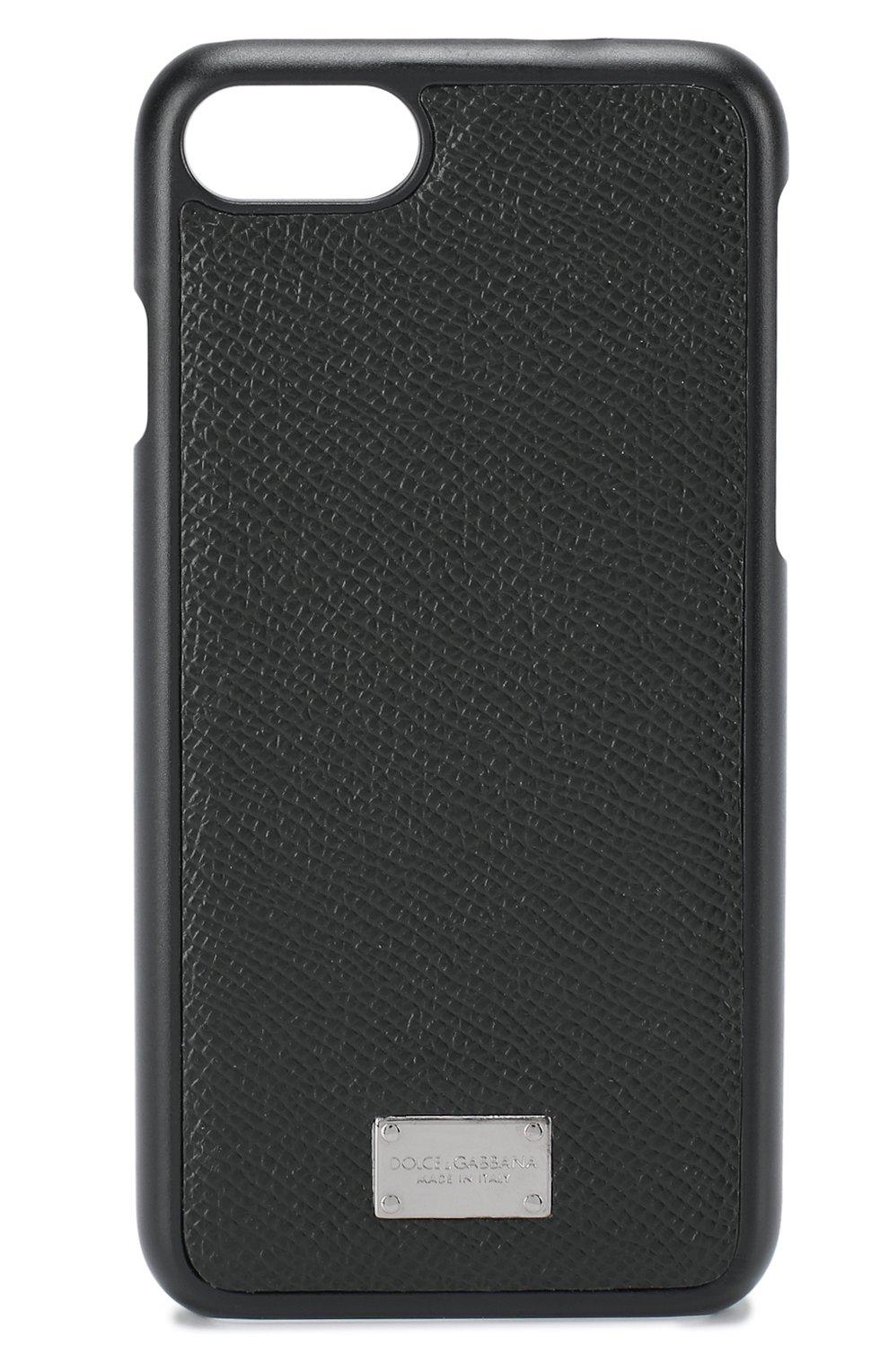 Кожаный чехол для iPhone 7 Dolce & Gabbana    Фото №1