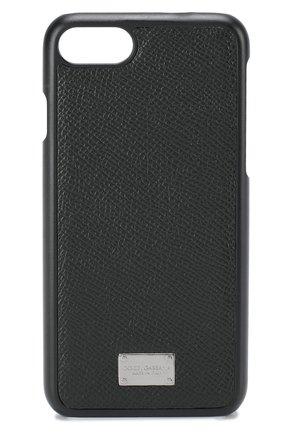 Мужской кожаный чехол для iphone 7 DOLCE & GABBANA темно-зеленого цвета, арт. 0115/BP2235/A1001 | Фото 1