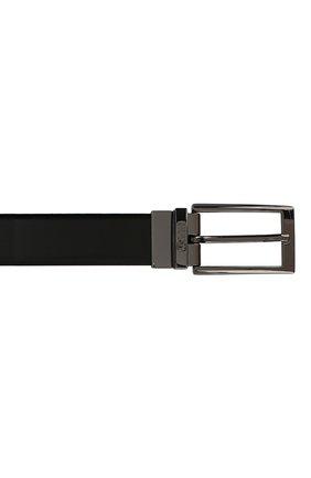 Мужской кожаный ремень HUGO черного цвета, арт. 50307803 | Фото 3