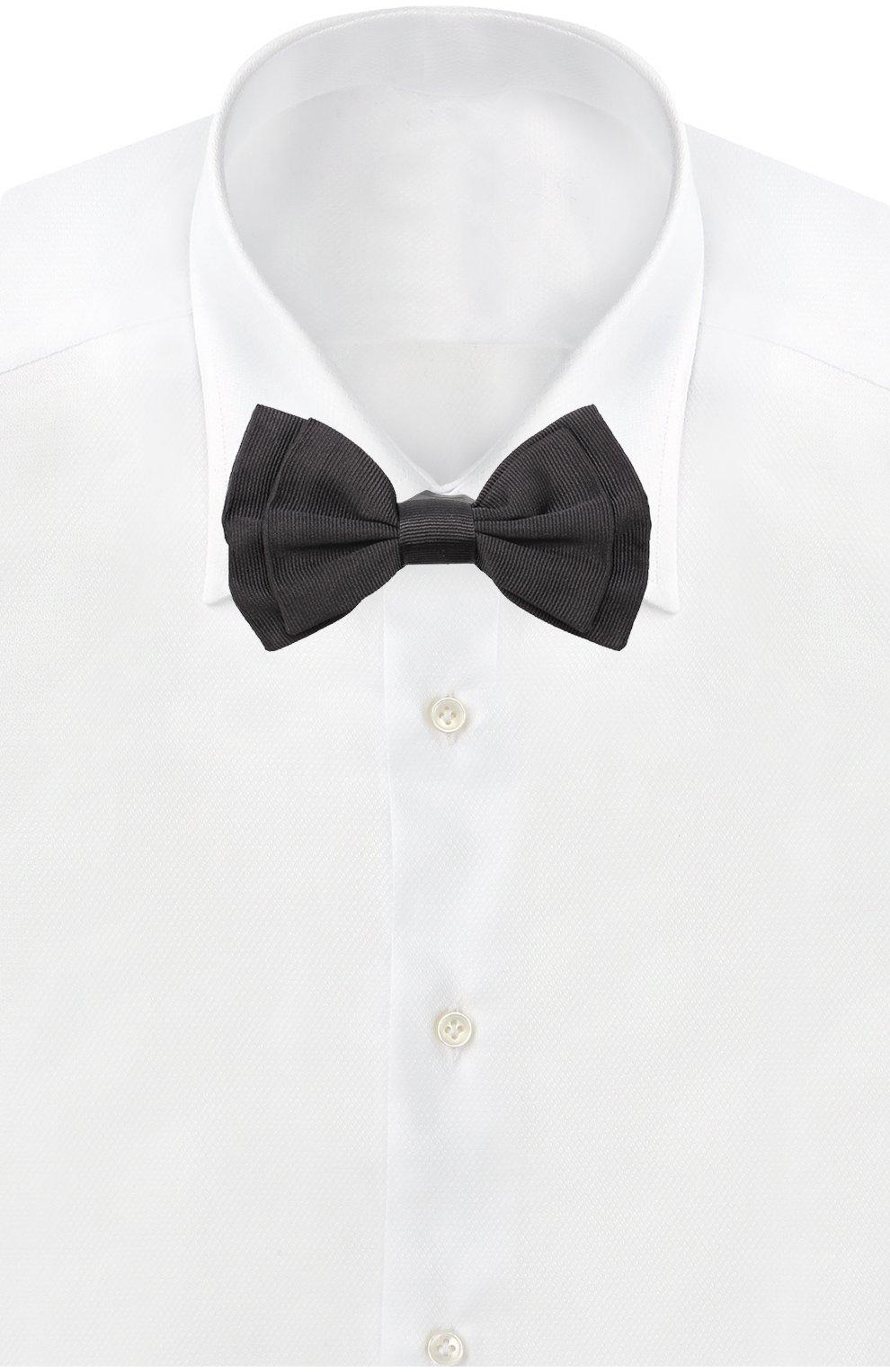 Шелковый галстук-бабочка Dolce & Gabbana черного цвета | Фото №2