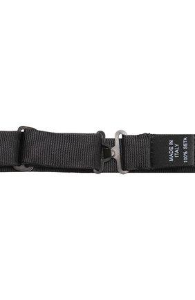 Шелковый галстук-бабочка Dolce & Gabbana черного цвета | Фото №3