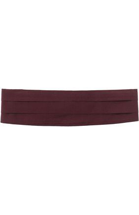 Мужской шелковый камербанд CANALI бордового цвета, арт. HJ01047/15 | Фото 1