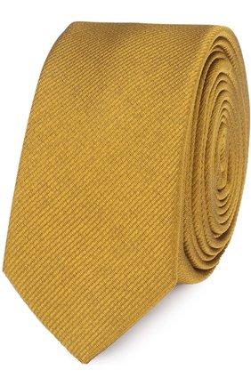 Шелковый галстук Dolce & Gabbana желтого цвета   Фото №1