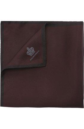 Шелковый платок Dolce & Gabbana бордовый   Фото №1